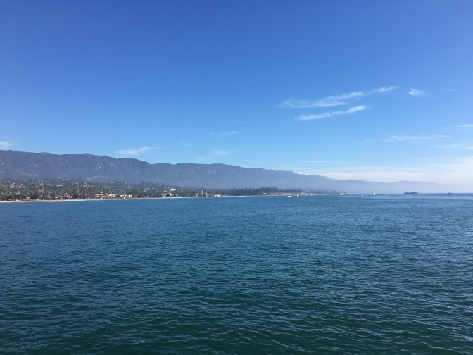View of Santa Barbara from the pier