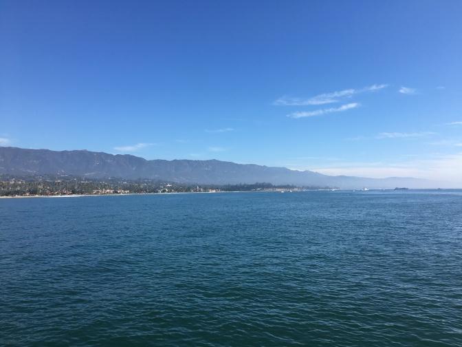 View of Santa Barbara from the pier